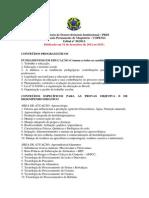 Conteudos Especificos Professor Efetivo