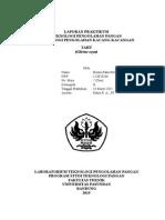 laporan praktikum teknologi pengolahan pangan Tahu