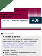 Presentatie Core et al. (1999) versie 2.pptx