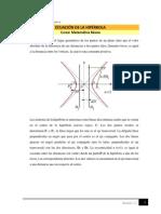 Ecuación de La Hipérbola