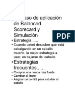 Caso de Aplicación de Balanced Scorecard y Simulación