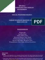 Social Phenomenology