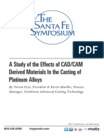 2008 a Study of the Effects of CAD CAM Derived Materials