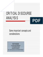 Critical Discourse Analysis - Ruth Wodak