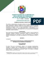 Constitucion de La Republica Bolivariana de Venezuela Con Exposicion de Motivos