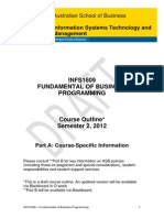 INFS1609 Fundamental of Business Programming S22012