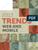 Web and Mobile TRENDS 2013