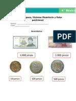 Sistema monetario. 4° básico
