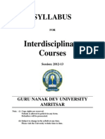 All Interdisciplinary Courses