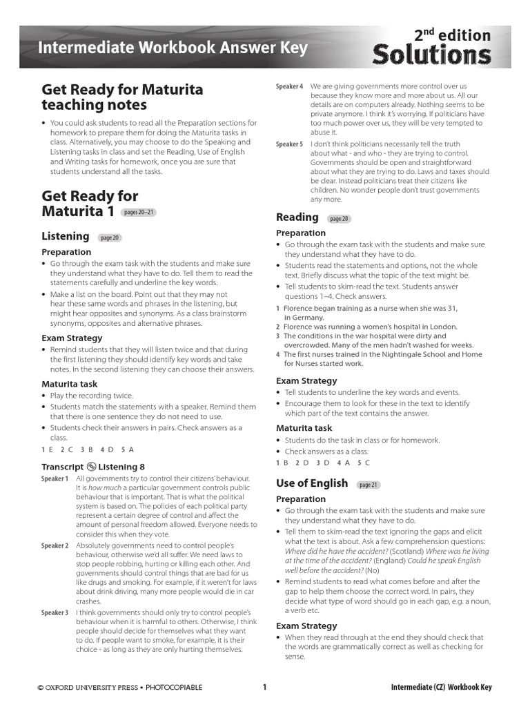intermedia workbook по гдз solutions pre