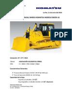 Cotozación Tractor de Oruga Modelo D65EX - 16_Cliente_ASOCIACIÓN ACCIDENTAL ÁRBOL_11_06_14_Ref. 177.pdf