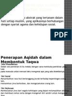 Integrasi Aqidah Dan Syariah Dalam Membentuk Taqwa