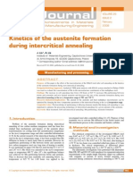 Kinetics of the Austenite Formation During Inter Critical Annealing