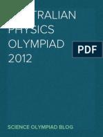 Australian Physics Olympiad 2012