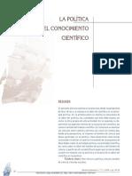 Carlos Restrepo - La Política y El Conocimiento Científico.