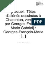 Georges François Marie, Recueil