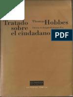 Tratado sobre el ciudadano. Thomas Hobbes