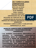 MODELOS CURRICULARES ALTERNATIVOS