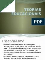 TEORIAS EDUCACIONAIS