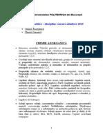 Programa Analitica CHIMIE 2015s