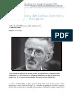 Cristibal Florenzano y Marcelo Samarriva. Cultura Popular y Alta Cultura. Entrevista a Peter Burke