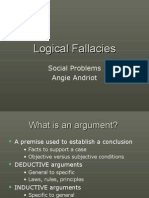 Lecture 4 Logical Fallacies