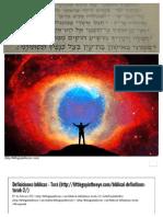 Definiciones Bíblicas - Torá - Pequeño Individuo en El Ojo
