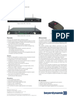 Beyerdynamics Stegos Wireless Data Sheet