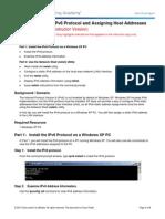 0.0.0.2 Lab - Installing the IPv6 Protocol With Windows XP - ILM
