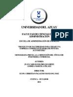 Proyecto de Factibilidad Para Crear Una_empresa Comercializadora de Pintura_automotriz