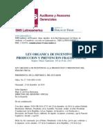 Tributar-ley Organica de Incentivos a Produccion y Prevencion Fraude Fiscal