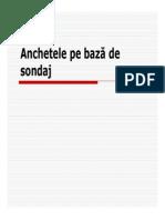 Anchetele Pe Baza de Sondaj