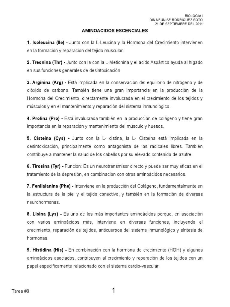 9 AMINOACIDOS ESCENCIALES