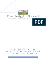 Farleigh Road Lunch Menu