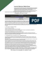 The Changes In Consumer Behaviour Media Essay.doc