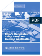 Concealed Carry Laws Manual - Ohio