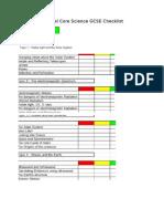 Edexcel Core Science GCSE Checklist