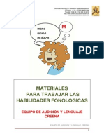 Materiales Para Trabajar Las Habilidades Fonologicas CREENA