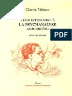 Pour Introduire a La Psychanaly - Charles Melman