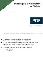 HUACCHA_DISEÑO INTERIOR V_Tema 2_Fundamentos Planificación Oficinas