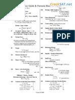 SAT II Physics Formula Sheet