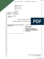"""The Apple iPod iTunes Anti-Trust Litigation"" - Document No. 110"
