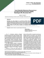 Meeting report - 7th International Zebrafish Behavioral Neuroscience and Neurophenotyping Workshop (ZB2N), Washington DC, November 2014