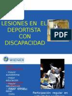 Lesiones Deportivas en Personas Con Discapacidad 2014