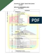 Cartel de Contenidos 2011