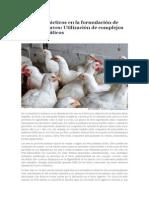 Aspectos Prácticos en La Formulación de Dietas Para Aves