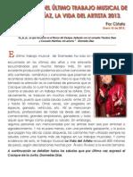 LOS SALUDOS DEL ÚLTIMO TRABAJO MUSICAL DE DIOMEDES DÍAZ