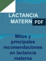 Mitos y Principales Problemas de Lactar