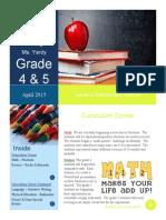 elementary school sample newsletter pdf