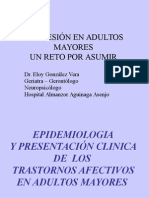 Epidemiología de La Depresión en adulto mayor